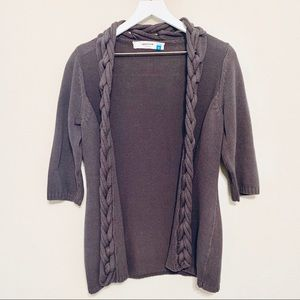 Anthropologie Sparrow Gray Cable Cardigan Sweater